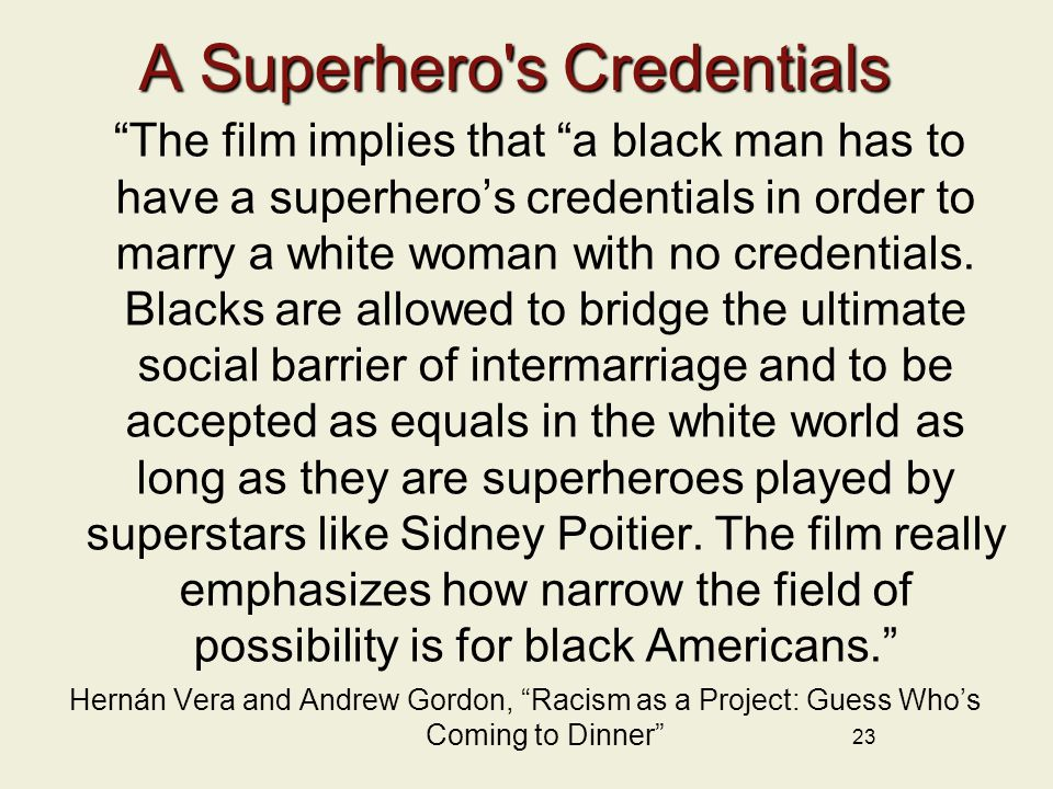 A Superhero s Credentials