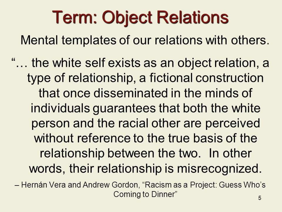 Term: Object Relations