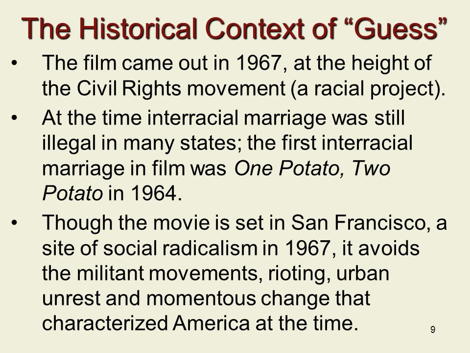 The Historical Context of Guess