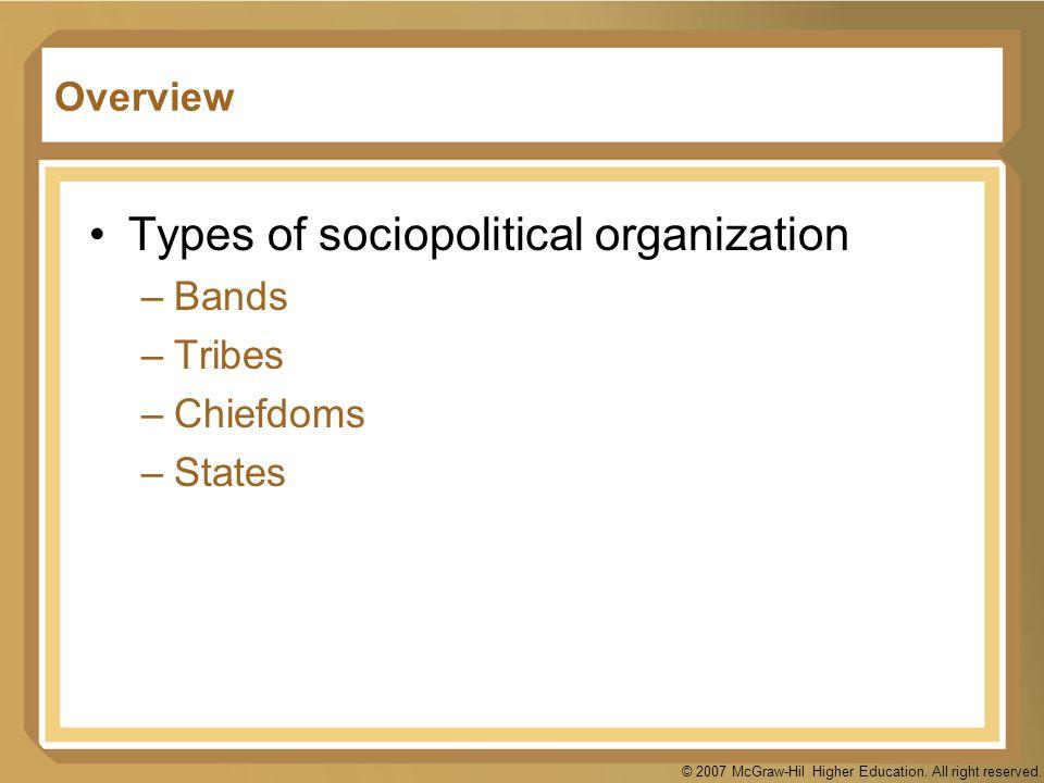 Types of sociopolitical organization