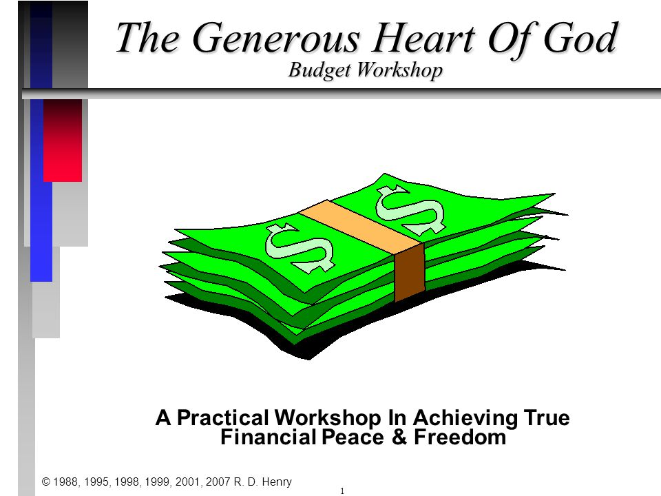 The Generous Heart Of God Budget Workshop