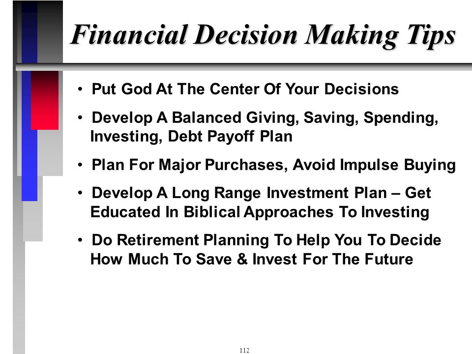 Financial Decision Making Tips