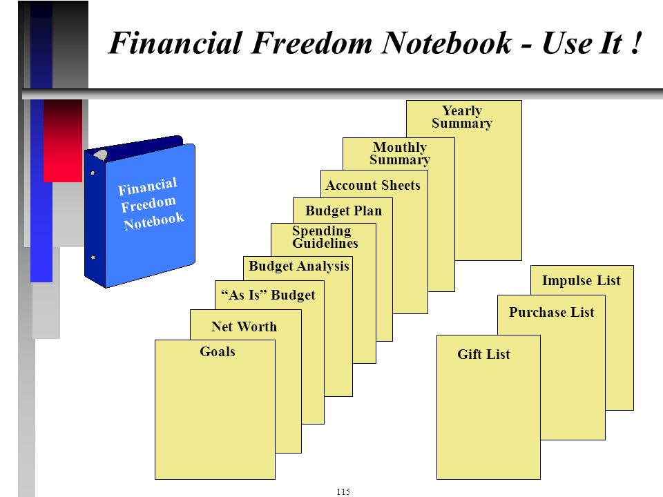 Financial Freedom Notebook - Use It !