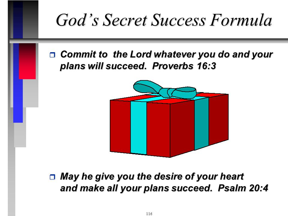 God's Secret Success Formula