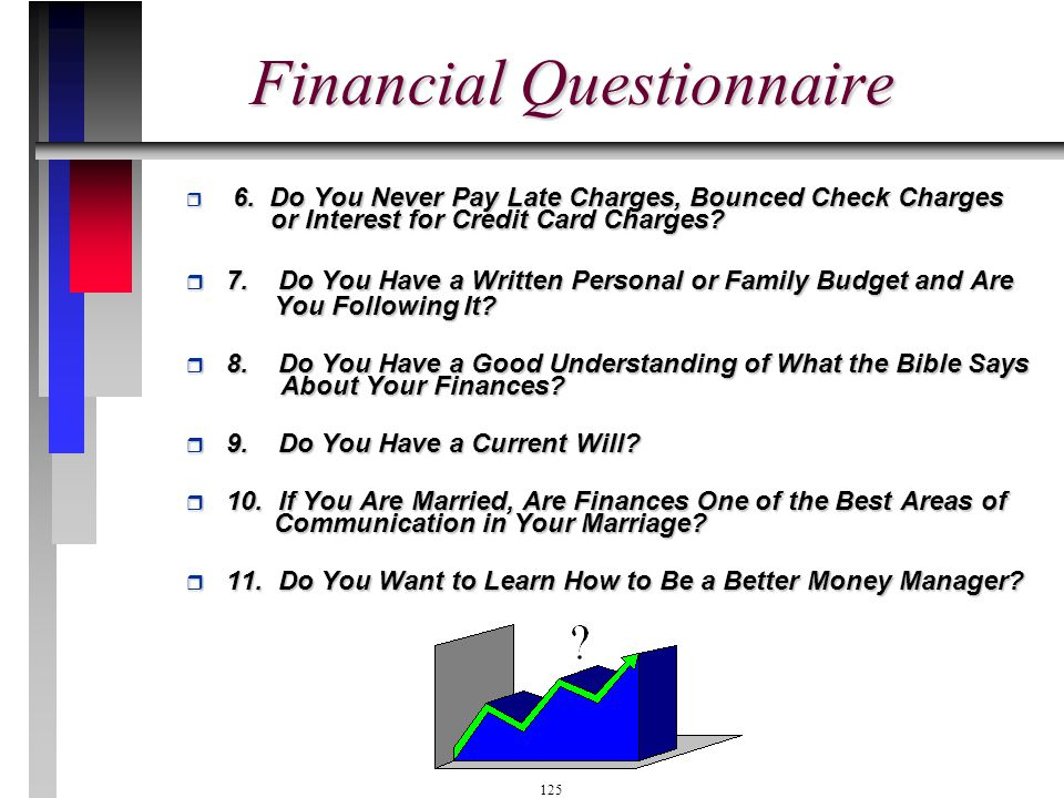 Financial Questionnaire