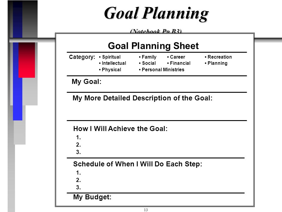 Goal Planning (Notebook Pg B3)