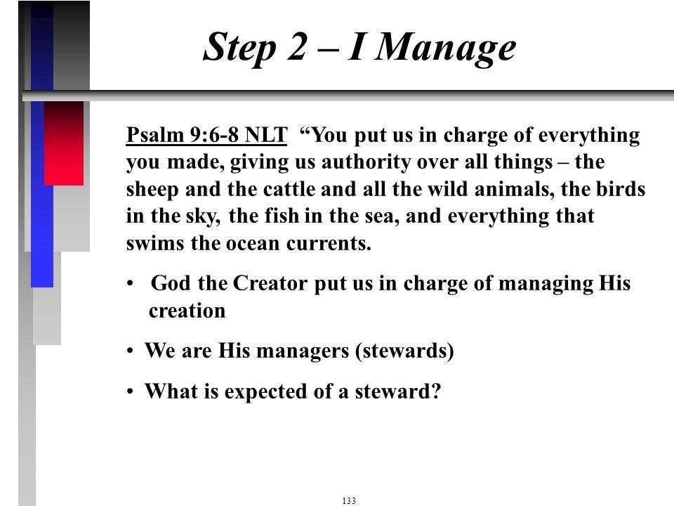 Step 2 – I Manage