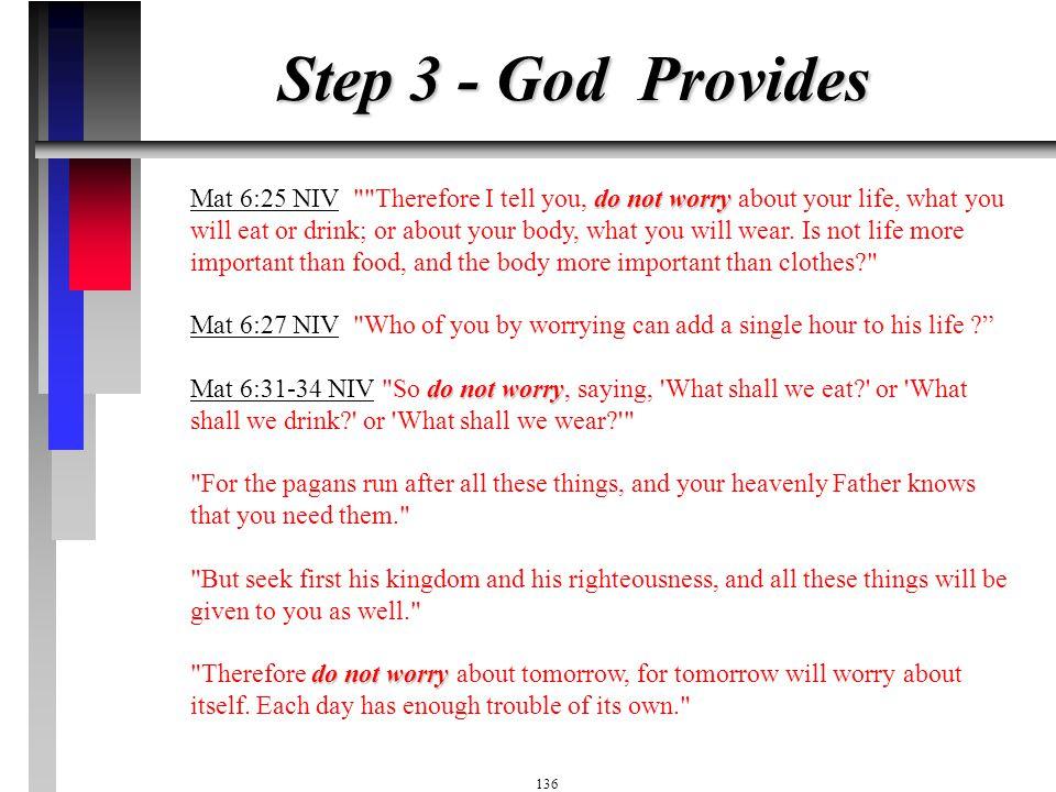 Step 3 - God Provides