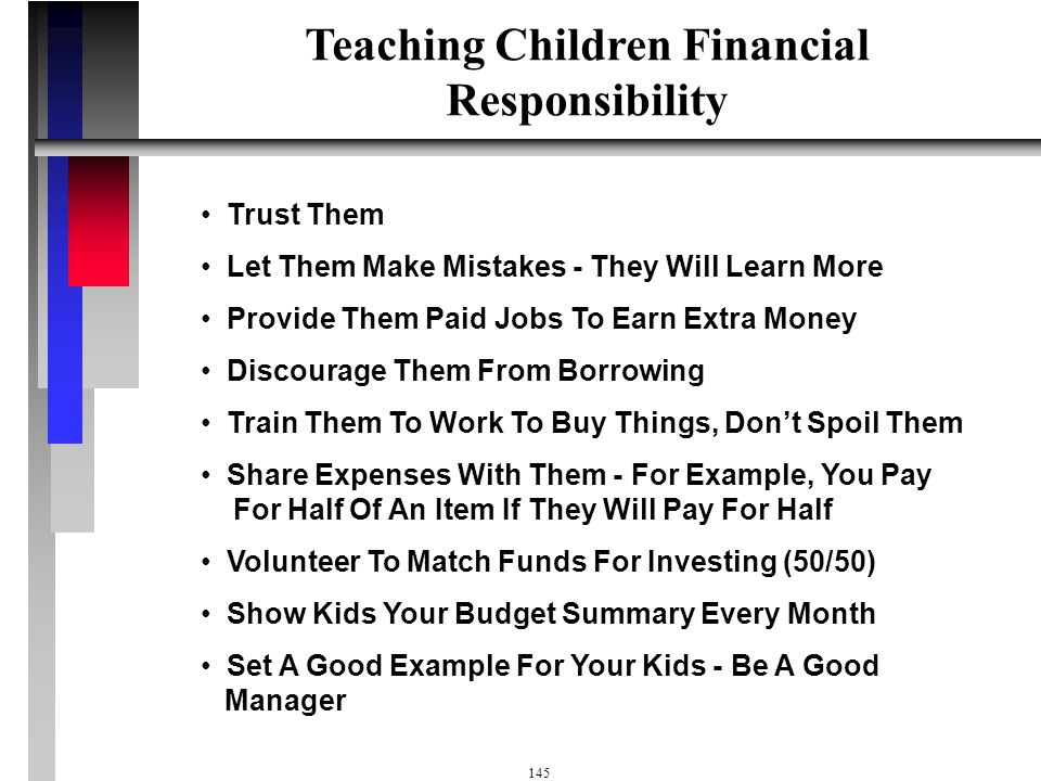 Teaching Children Financial Responsibility