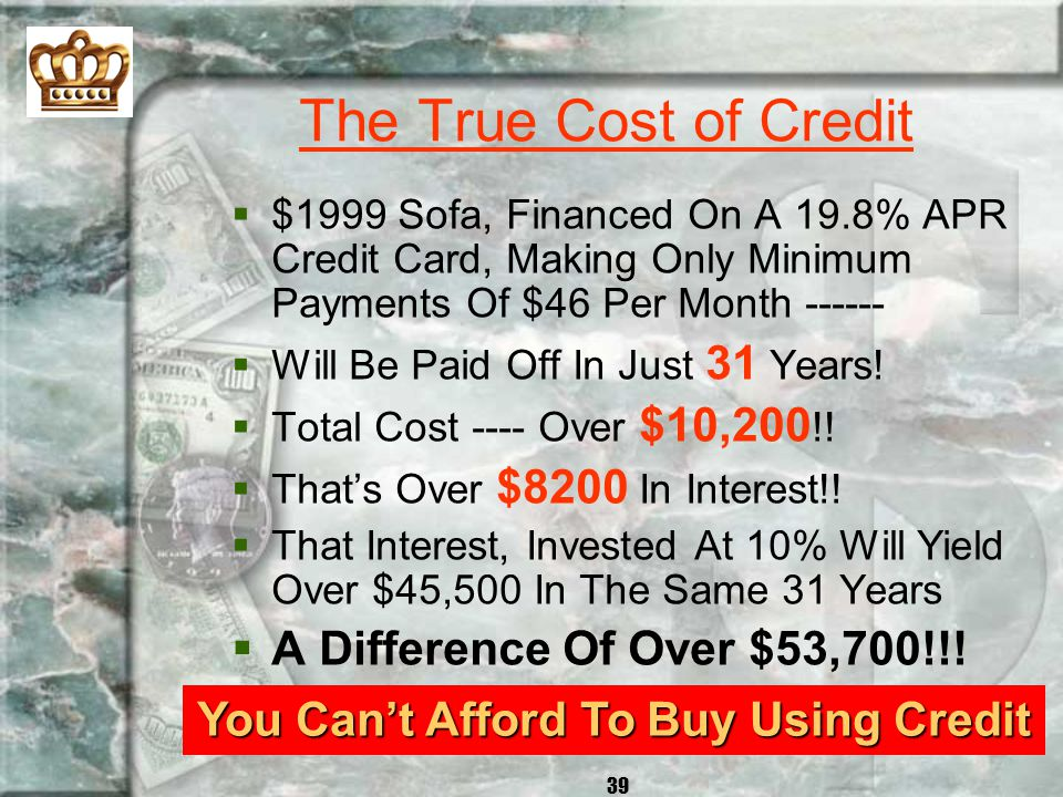 You Can't Afford To Buy Using Credit