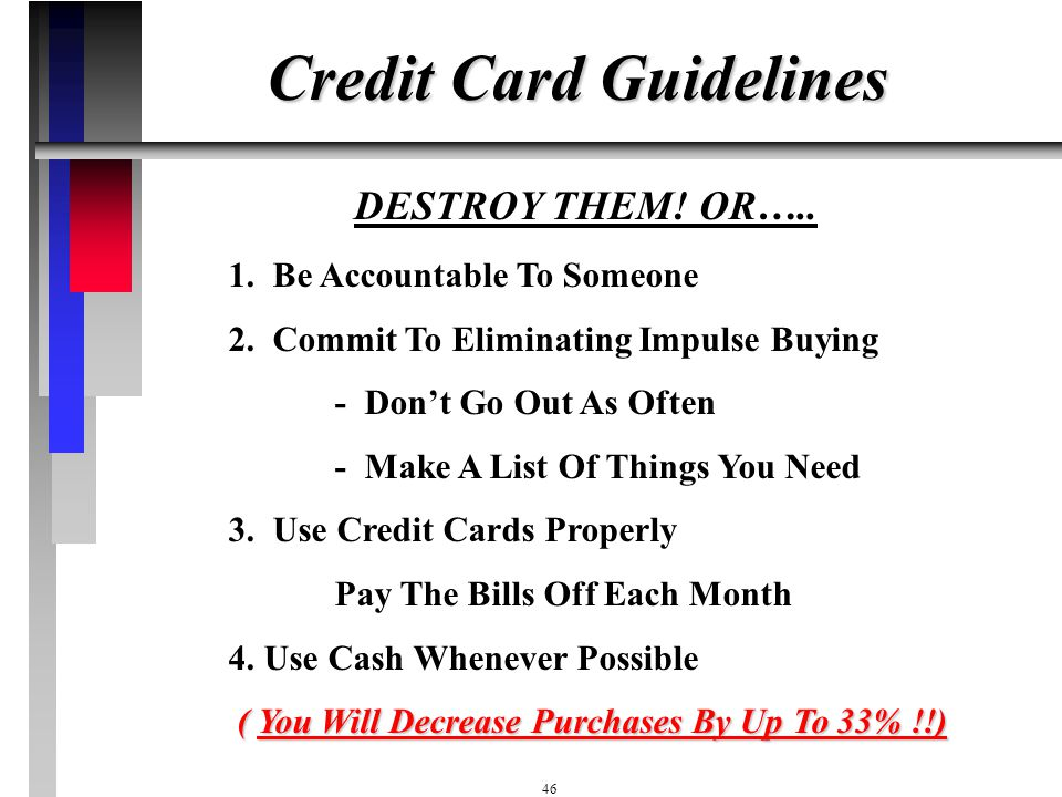 Credit Card Guidelines