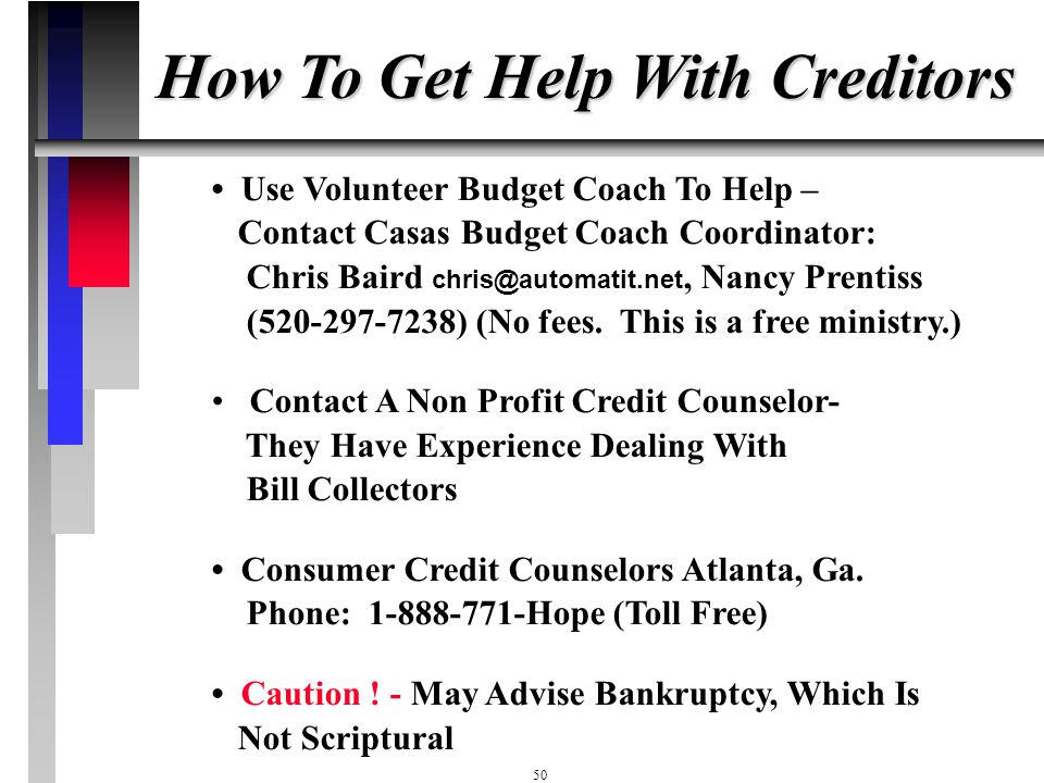 How To Get Help With Creditors