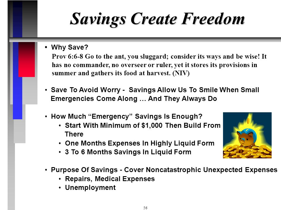 Savings Create Freedom