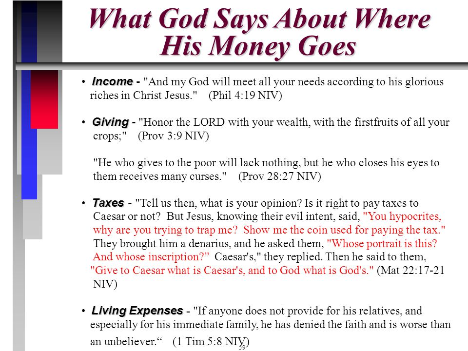 What God Says About Where His Money Goes