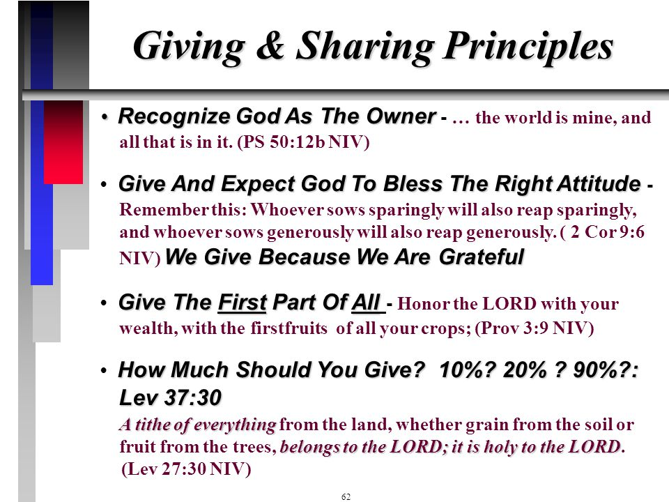 Giving & Sharing Principles