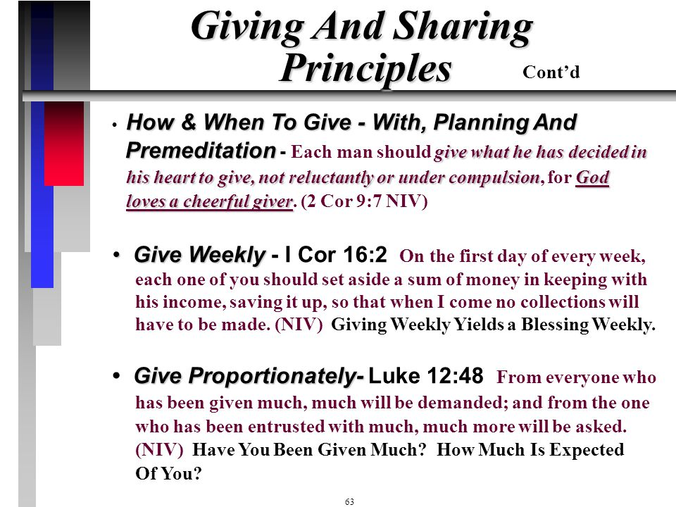 Giving And Sharing Principles