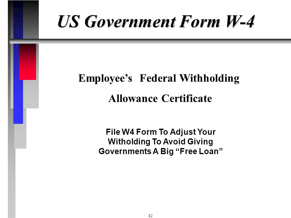 Employee's Federal Withholding Allowance Certificate