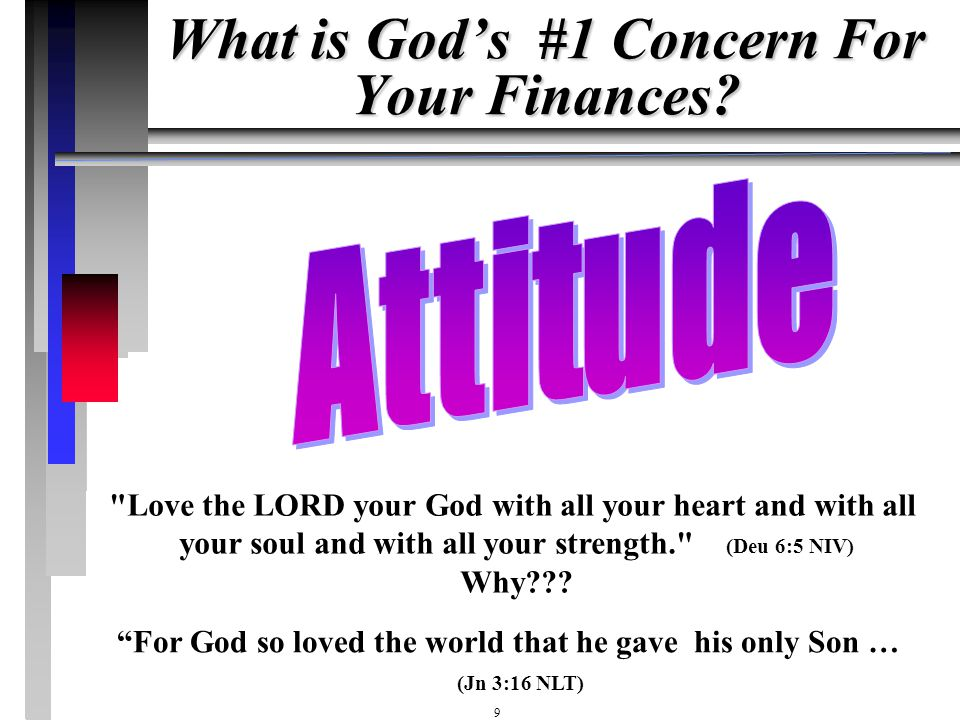 What is God's #1 Concern For Your Finances