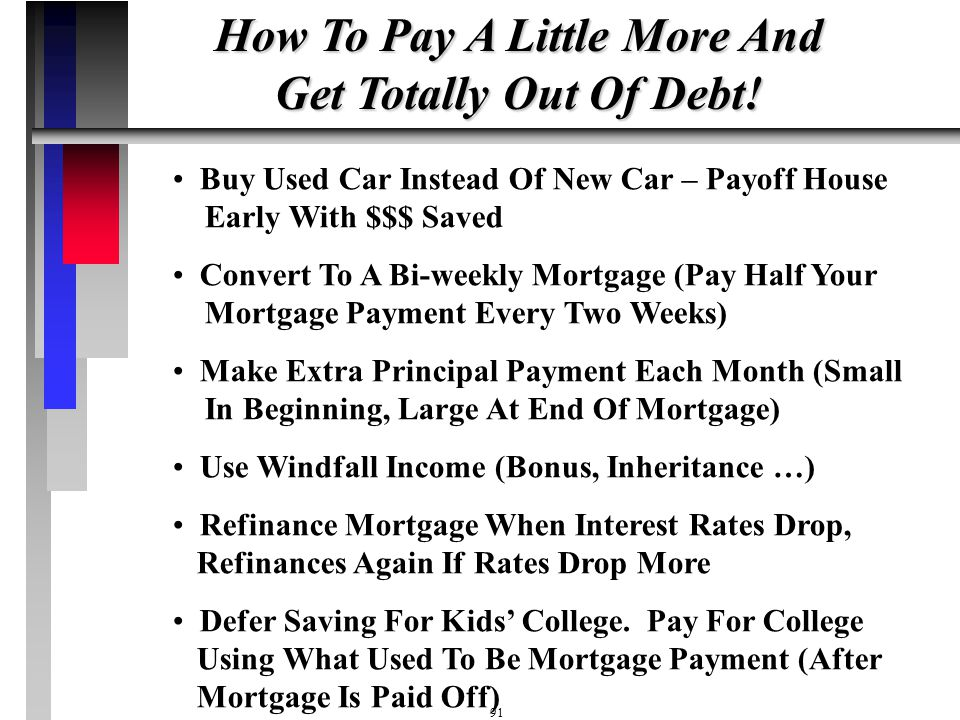 How To Pay A Little More And Get Totally Out Of Debt!