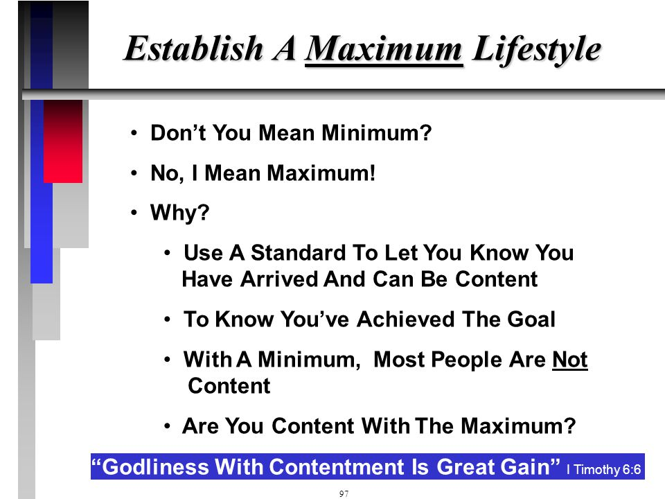 Establish A Maximum Lifestyle