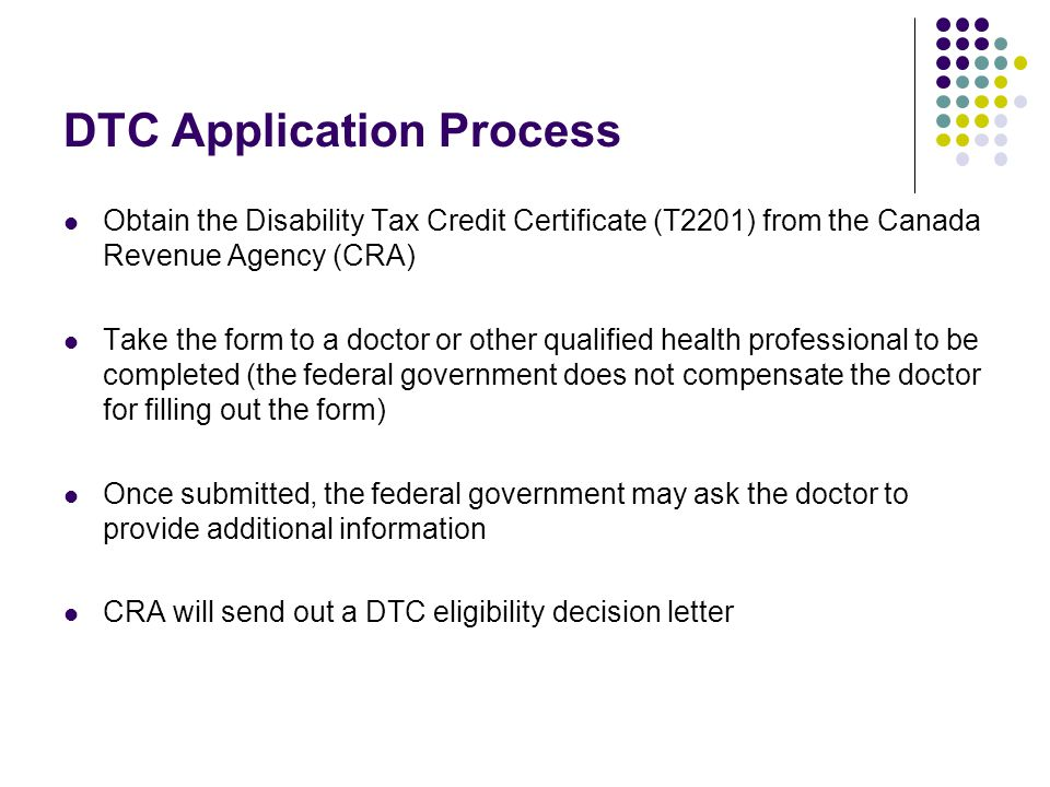 DTC Application Process