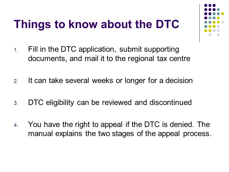 Things to know about the DTC