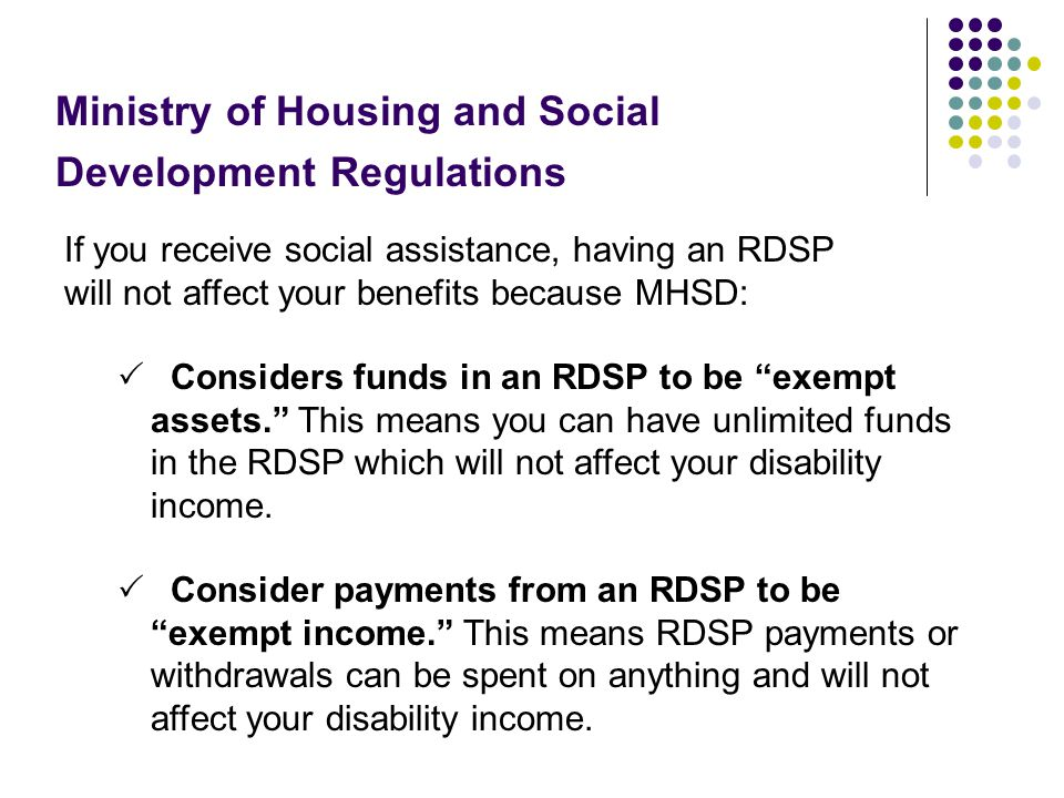 Ministry of Housing and Social Development Regulations
