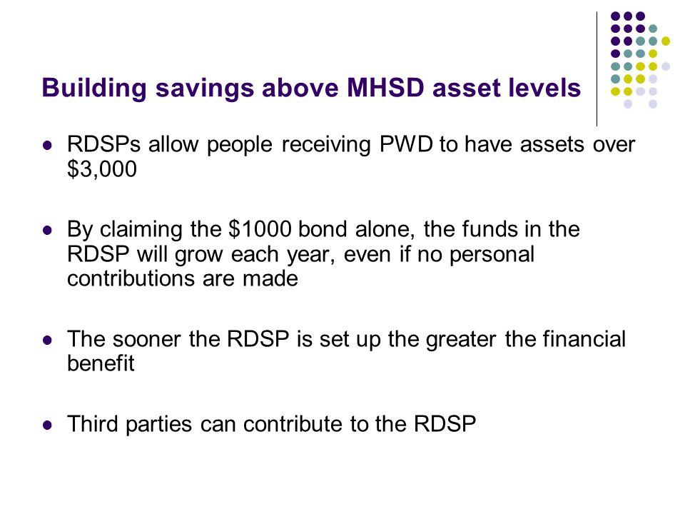 Building savings above MHSD asset levels
