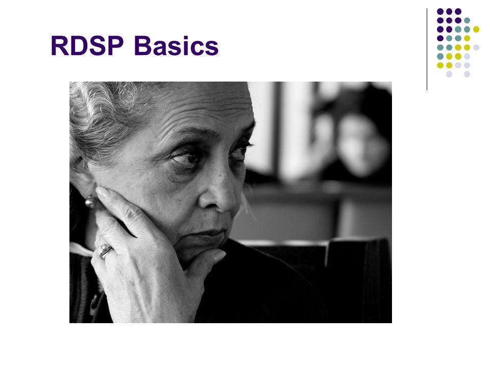 RDSP Basics