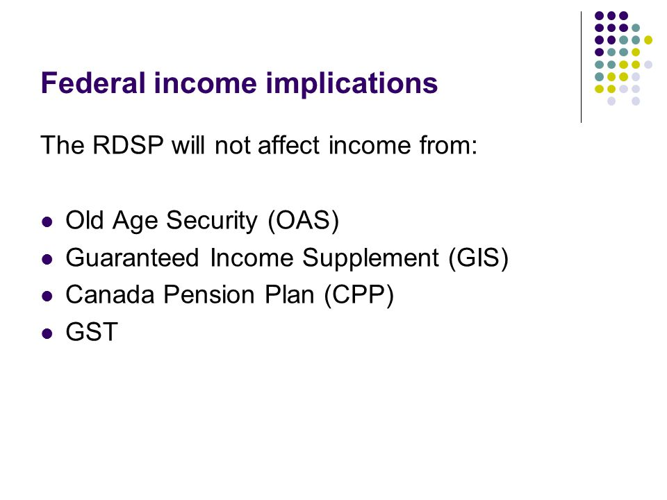 Federal income implications
