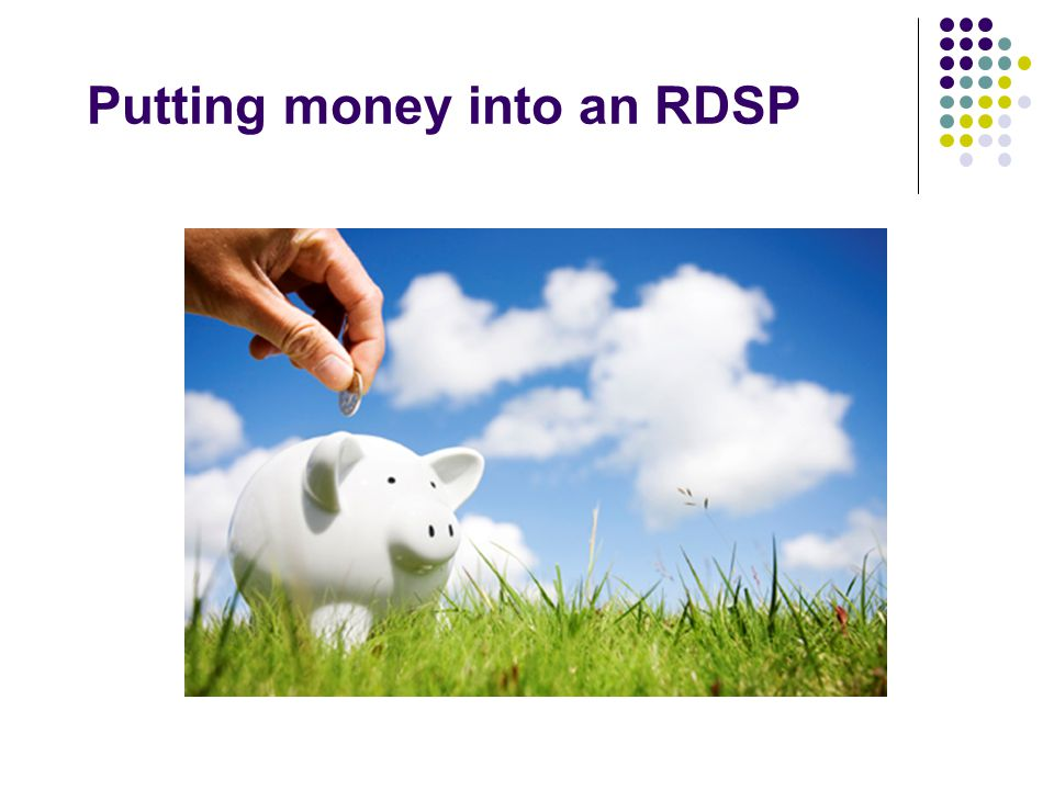 Putting money into an RDSP