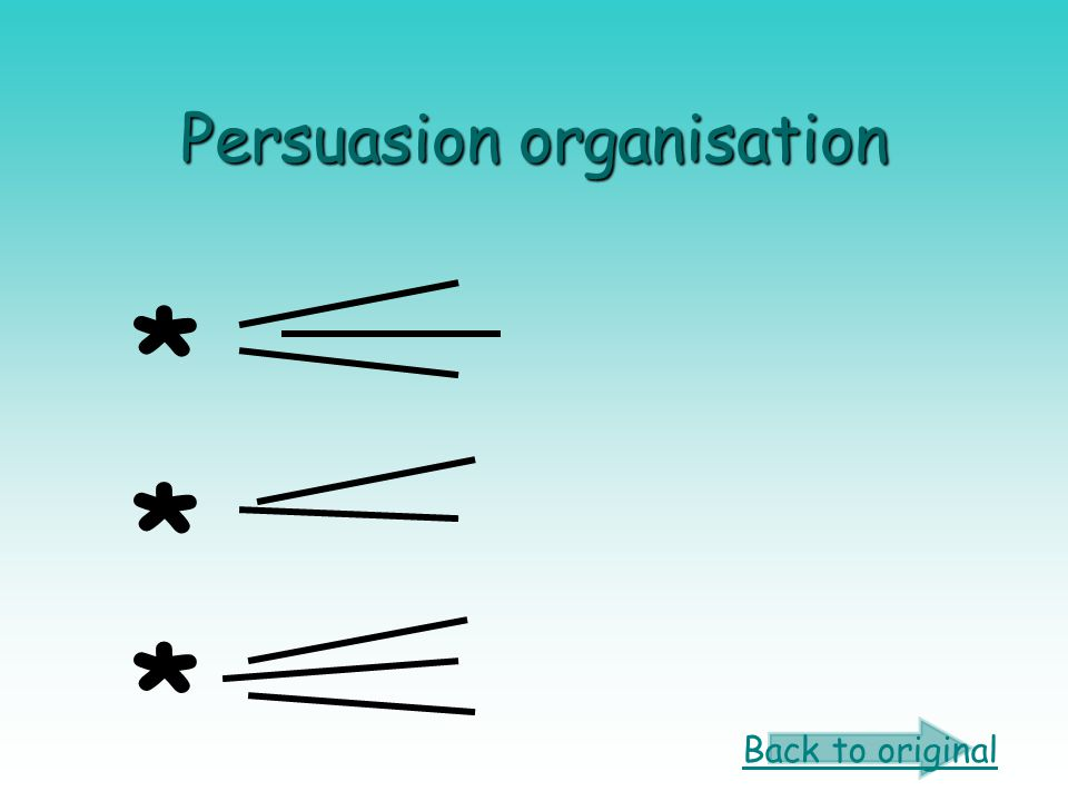 Persuasion organisation