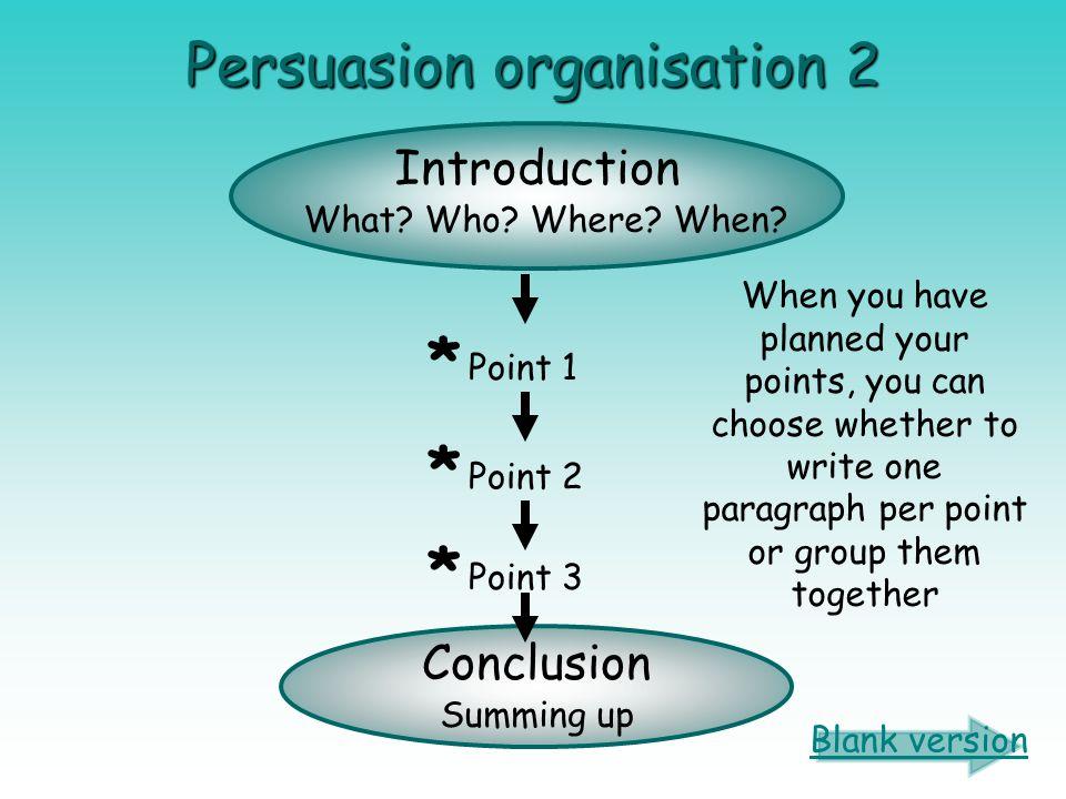 Persuasion organisation 2