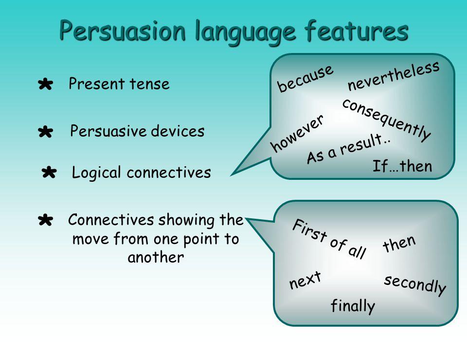 Persuasion language features