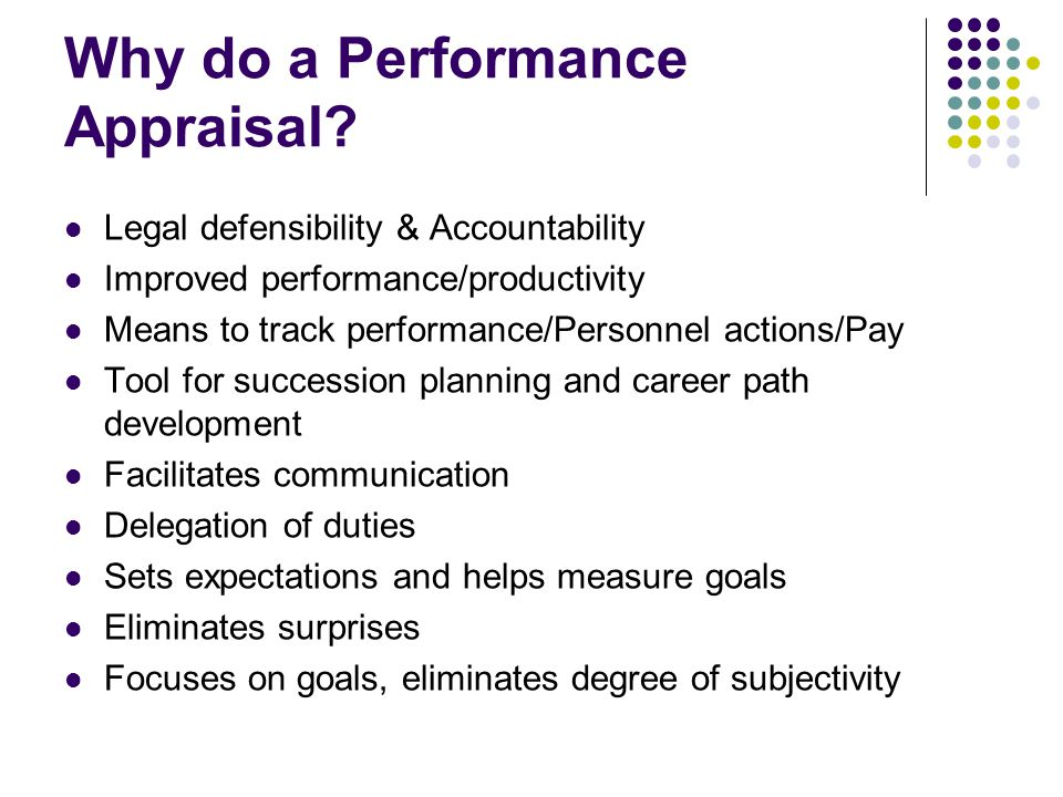 Why do a Performance Appraisal