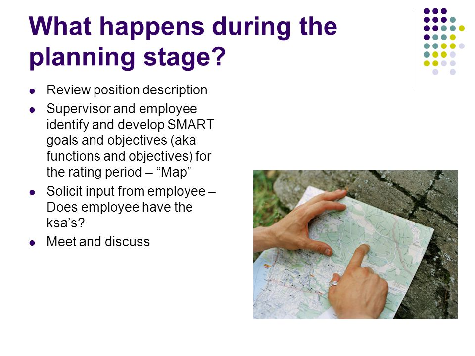 What happens during the planning stage