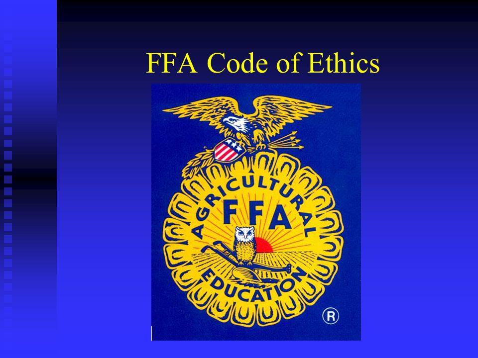 FFA Code of Ethics