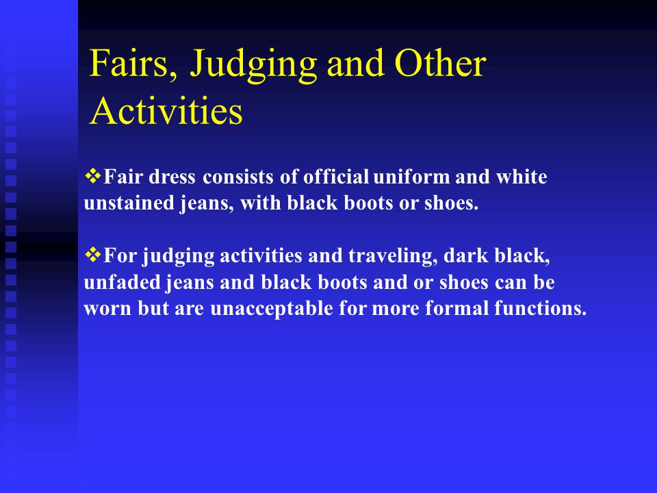 Fairs, Judging and Other Activities