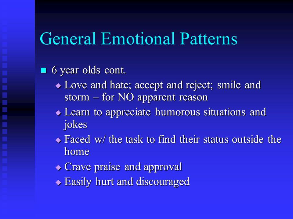 General Emotional Patterns