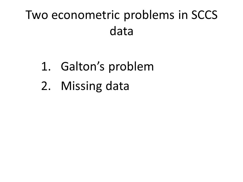 Two econometric problems in SCCS data