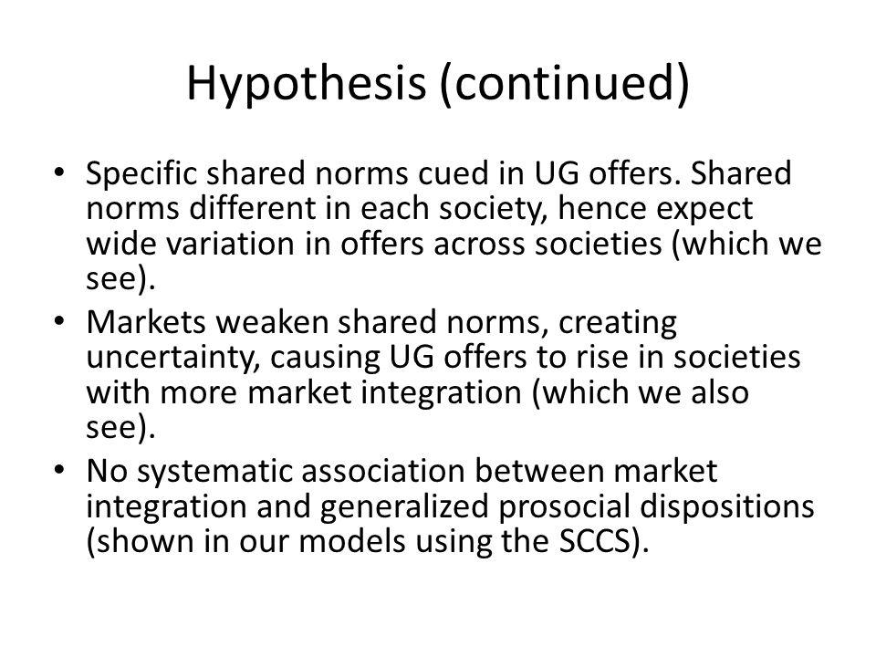Hypothesis (continued)