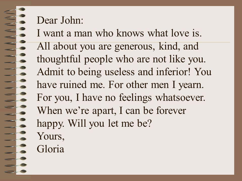 Dear John: