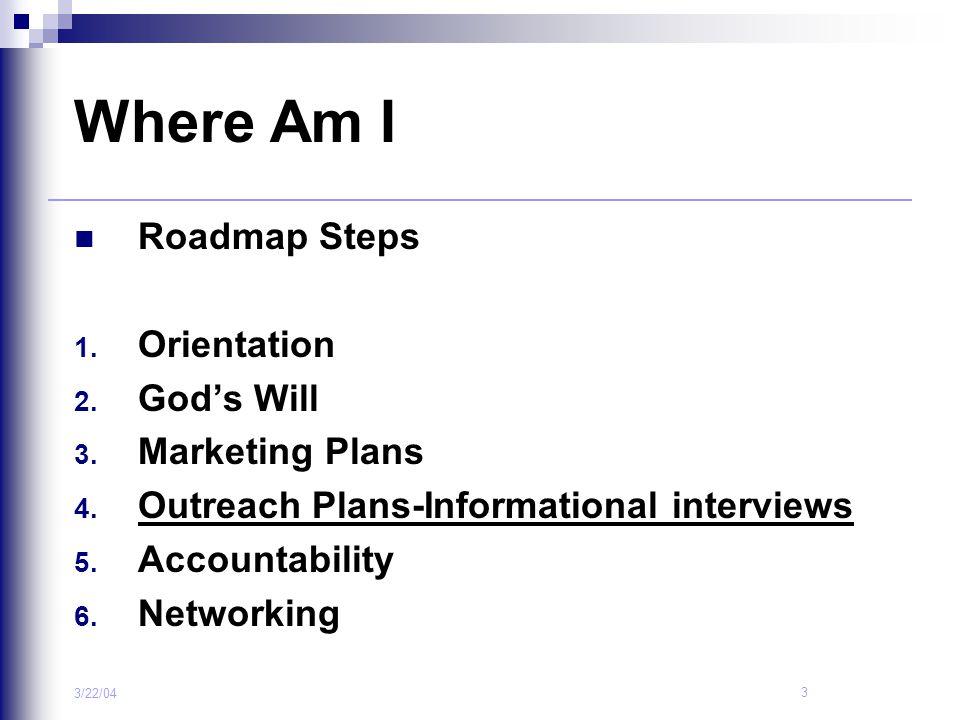 Where Am I Roadmap Steps Orientation God's Will Marketing Plans