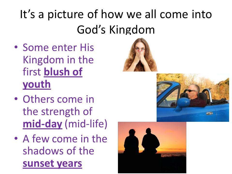 It's a picture of how we all come into God's Kingdom
