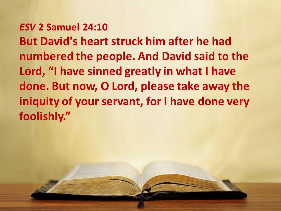 ESV 2 Samuel 24:10