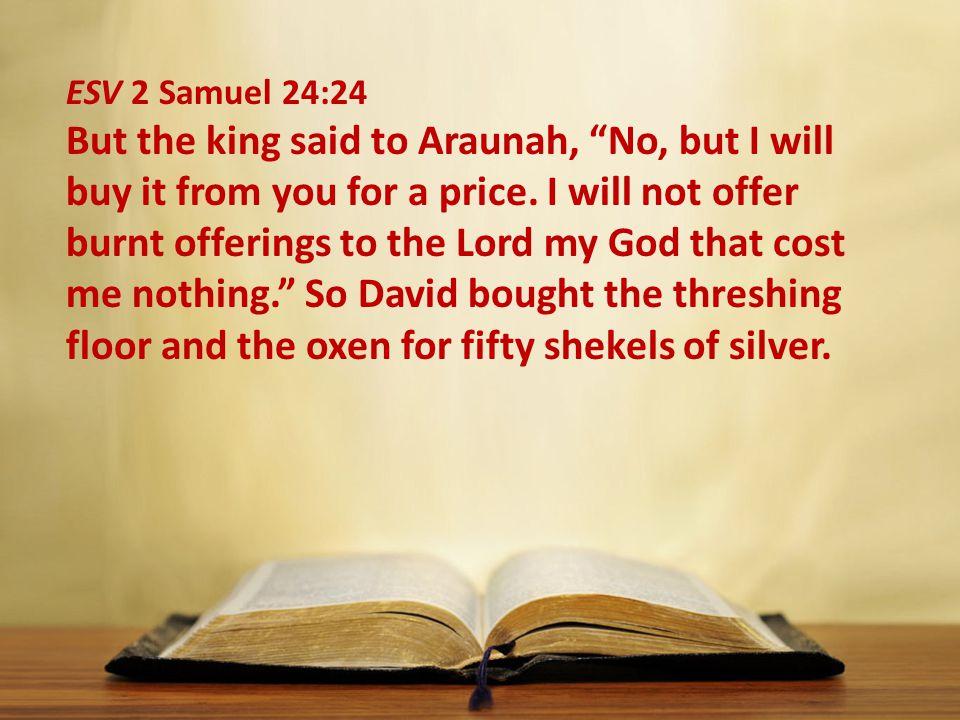 ESV 2 Samuel 24:24