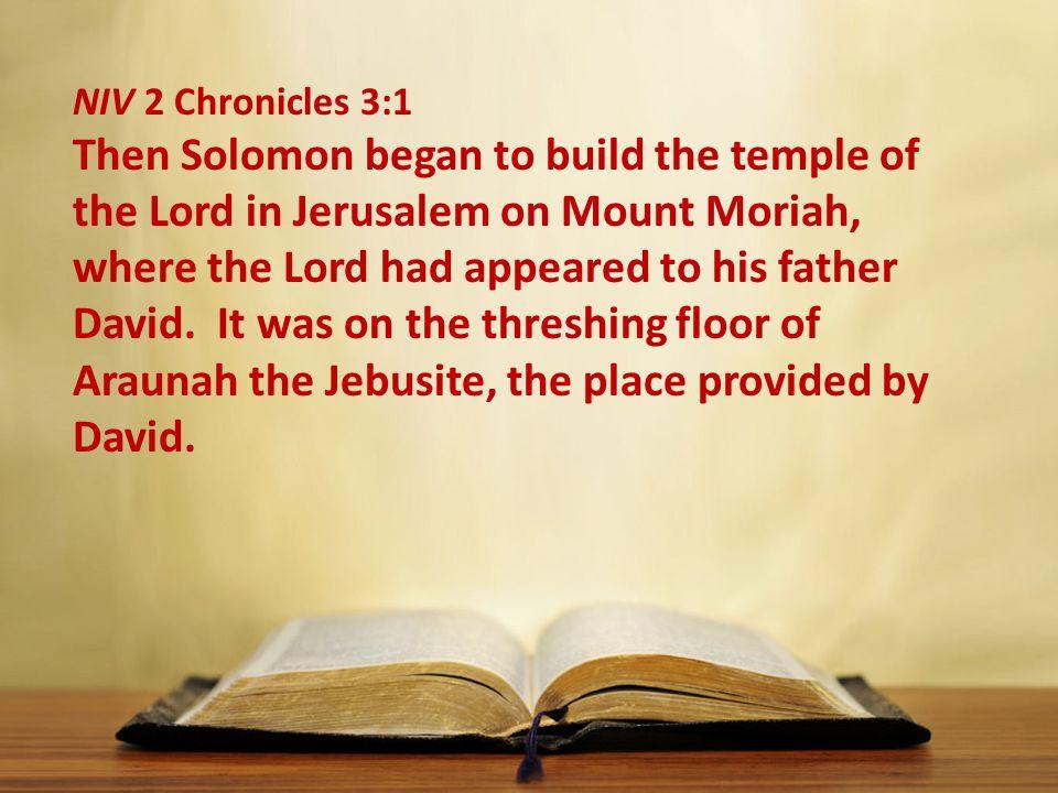 NIV 2 Chronicles 3:1