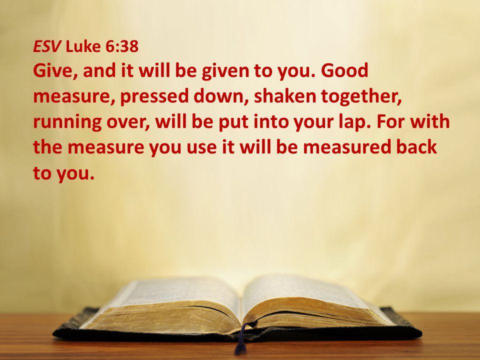 ESV Luke 6:38