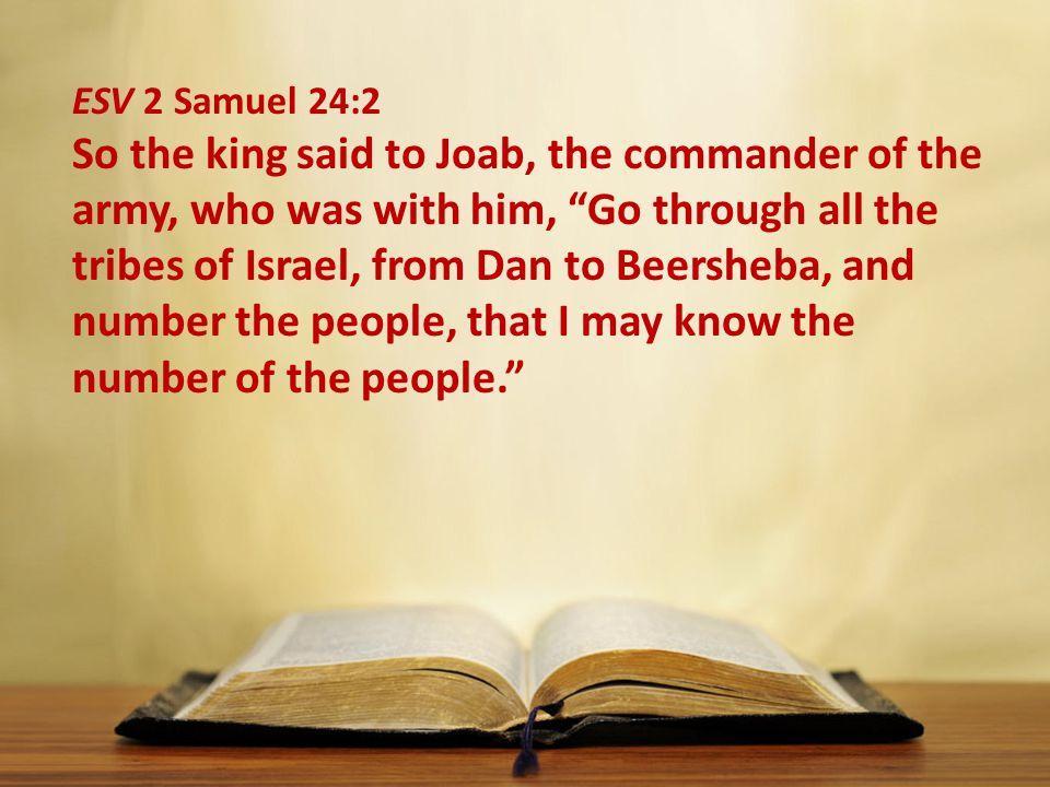 ESV 2 Samuel 24:2