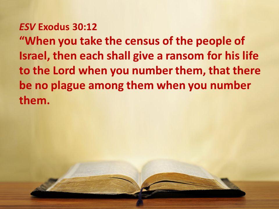 ESV Exodus 30:12